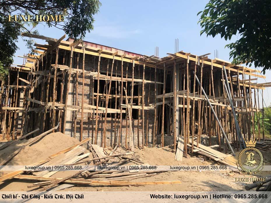 Thi Công nhà biệt thự 2 tầng Anh Diễn Bắc Ninh – TC 2201