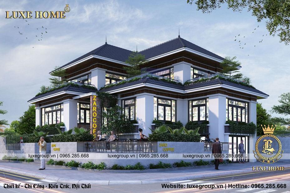 Thiết Kế Biệt Thự Sân Vườn 2 Tầng Coffee Shop – CS 2176