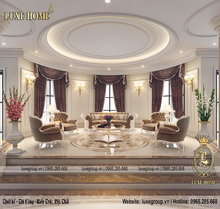 Thiết kế nội thất lâu đài tân cổ điển đẳng cấp – NT0147