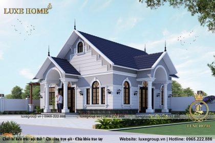 Thiết kế biệt thự 1 tầng tân cổ điển sang trọng – BT 11168