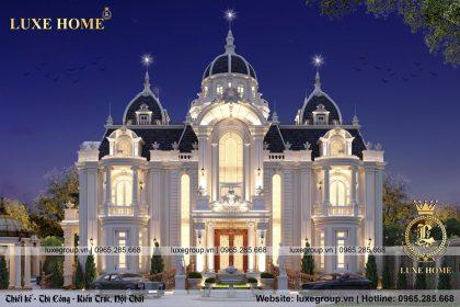 Lâu đài tân cổ điển 2 tầng kiến trúc Pháp đẹp – LD 2279