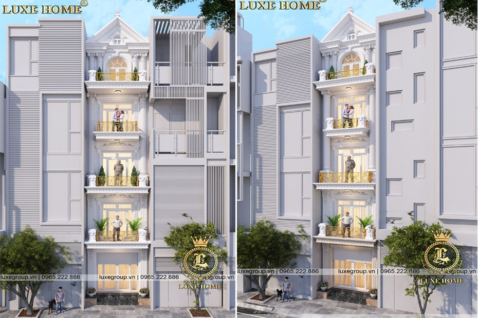 Nhà biệt thự 5 tầng mặt phố – BT 51111