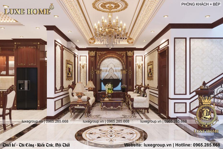 Thiết kế nội thất tân cổ điển nhà Bác Bảo – NT 2215