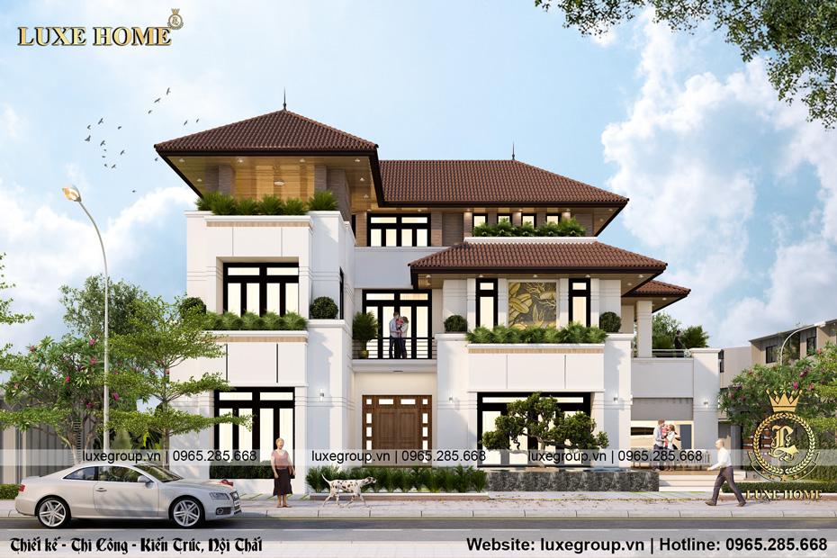 Thiết kế biệt thự hiện đại 3 tầng mặt phố đẹp – BT 3233