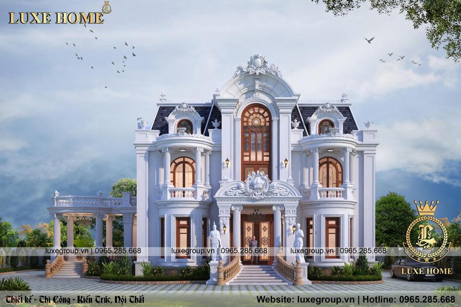 Tinh tế với mẫu lâu đài dịnh thự 2 tầng tân cổ điển – LD 2244