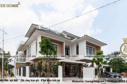 Thi công mẫu biệt thự 3 tầng hiện đại nhà Anh Tùng Thái Nguyên TC 3193