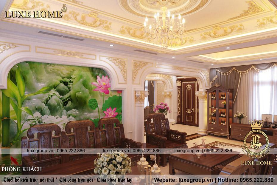 thiết kế thi công nội thất tân cổ điển đẹp sang – NT 0162