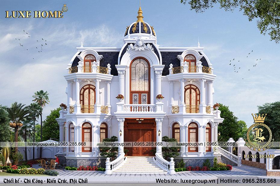 Lâu đài biệt thự 2 tầng phong cách pháp – BT 2197