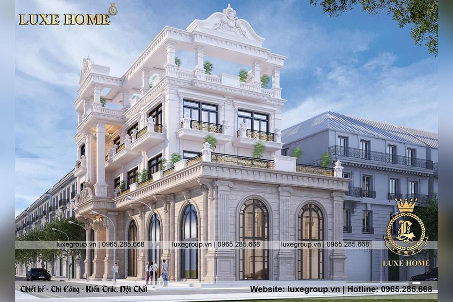 Thiết kế Biệt thự 3 tầng kết hợp kinh doanh mặt phố – BT 3244